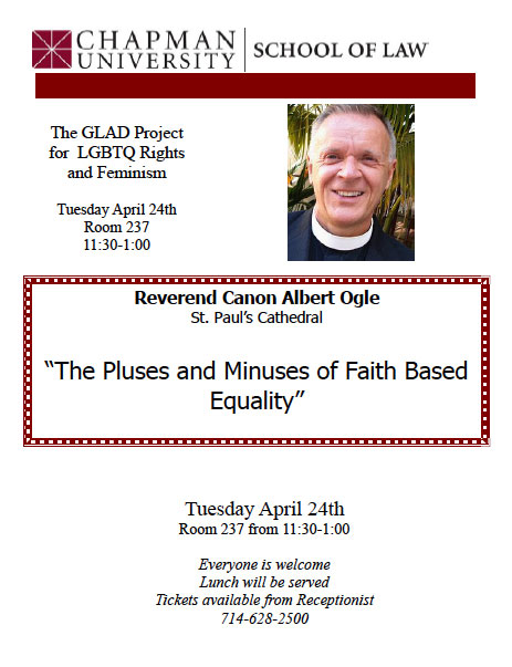 Flier for Albert Ogle talk of April 24, 2012