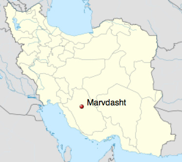 Marvdasht's location in Iran