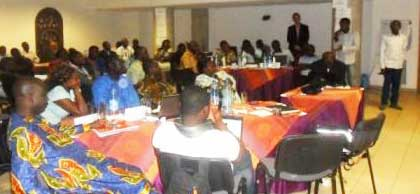 Training session in Cameroon run by the African Network for Training on HIV / AIDS