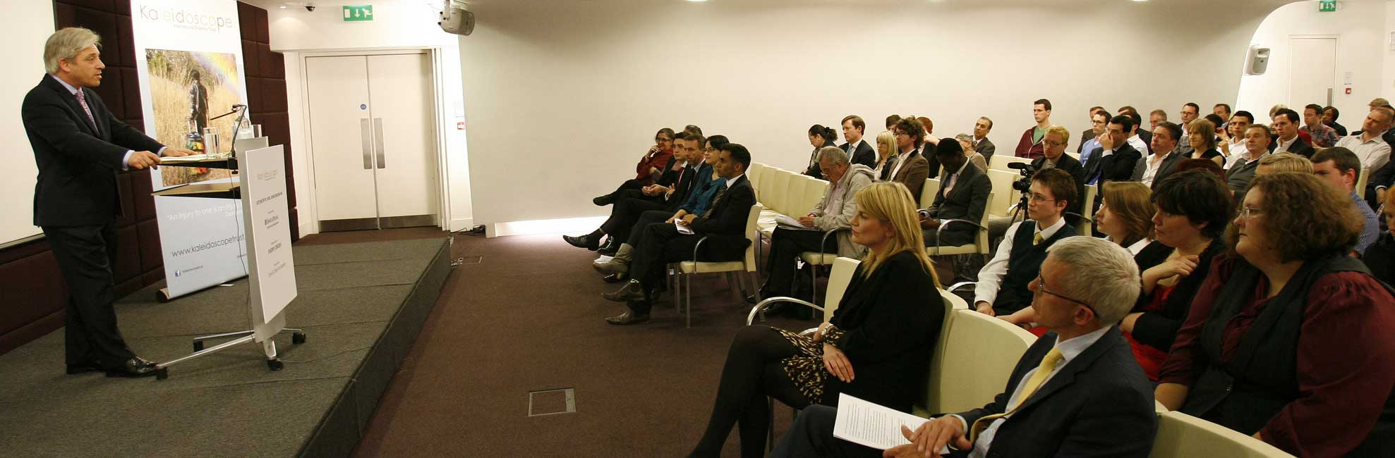 John Bercow addresses Kaleidoscope Trust. (Photo courtesy of Kaleidoscope Trust)
