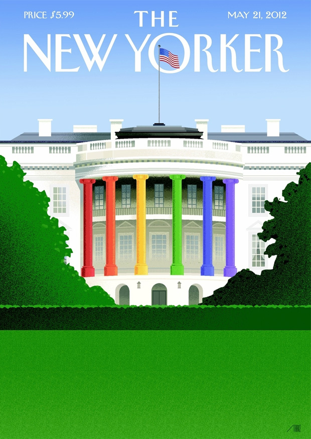 New Yorker cover celebrates President Obama new gay-marriage stance.