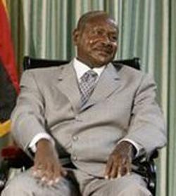 Yoweri Museveni, president of Uganda