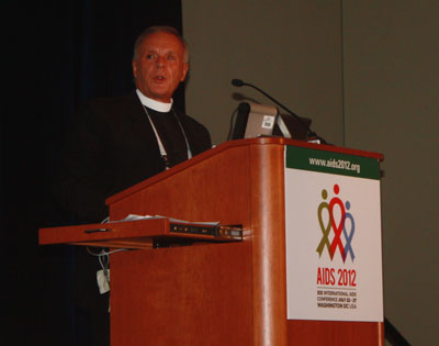 The Rev. Albert Ogle at AIDS Conference panel on AIDS, relgion and indigenous people