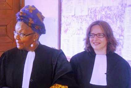 Alice Nkom and Saskia Ditisheim