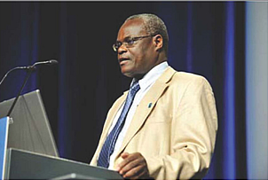 Elly Katabira of Uganda, president of the International AIDS Society.