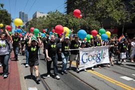 Google marchers at 2012 Pride Parade in San Francisco. (Photo courtesy of Google)