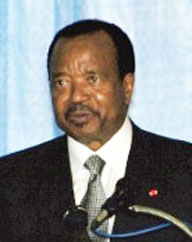 Paul Biya, president of Cameroon