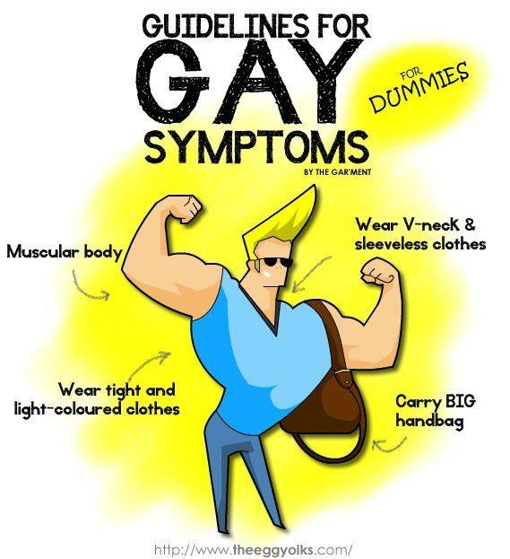 Cartoon ridiculing Malaysian list of 'gay symptoms'