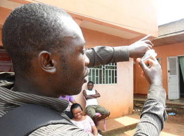 On World AIDS Day, CAMFAIDS provided this  demonstration of how to reduce risk of contracting HIV.