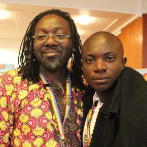 House of Rainbow founder Jide Macaulay (founder) and local leader Jude Onumiabo