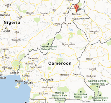 Location of Maroua in Cameroon. (Map courtesy of Google Maps)