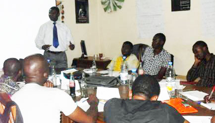 Teaching good governance among MSM. (Photo by Eric O. Lembembe)