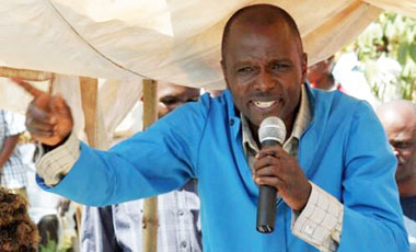 The Rev. Thomas Musoke interrupting David Kato's burial. (Photo courtesy of Frank Mugisha)