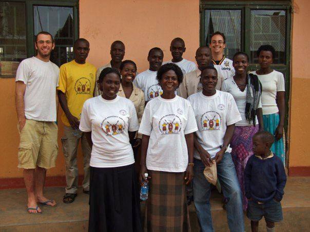 Josh Scheinert and other volunteers in Uganda pose for their portrait in 2007. (Photo courtesy of Josh Scheinert)