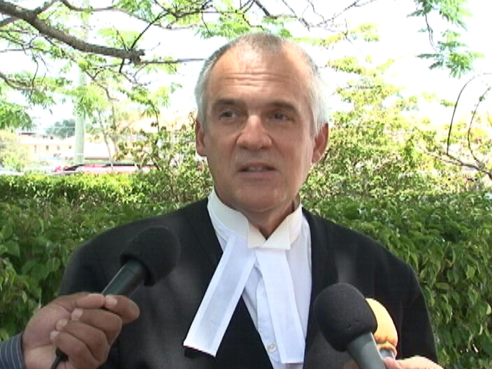 Claimant Caleb Orozco's advocate, Christopher Hamel-Smith (Photo courtesy of Channel 5 Belize)