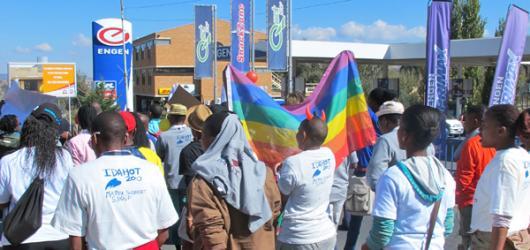 Gay pride march in Lesotho