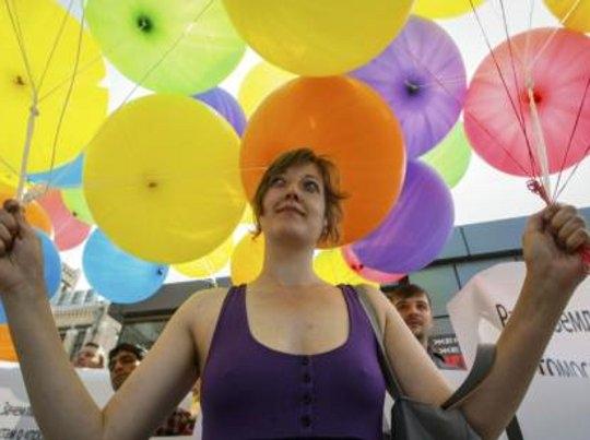 Ukraine gay rights rally in Kiev. (Photo courtesy of .themalaysianinsider.com)