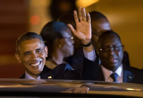 Presidents Barack Obama (left) and Macky Sall (right). (Photo courtesy of Afrik.com)