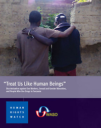 """Cover of the report """"Treat Us Like Human Beings."""" (Click the image for links to the report.)"""
