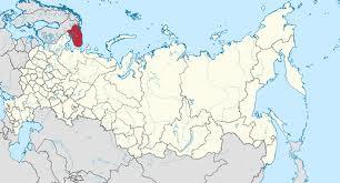 Murmansk region's location in Russia.