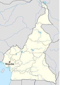 Muyuka's location in Cameroon. (Map courtesy of Wikipedia)