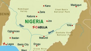 Nigeria map shows coastal locations of Lagos and Port Harcourt.