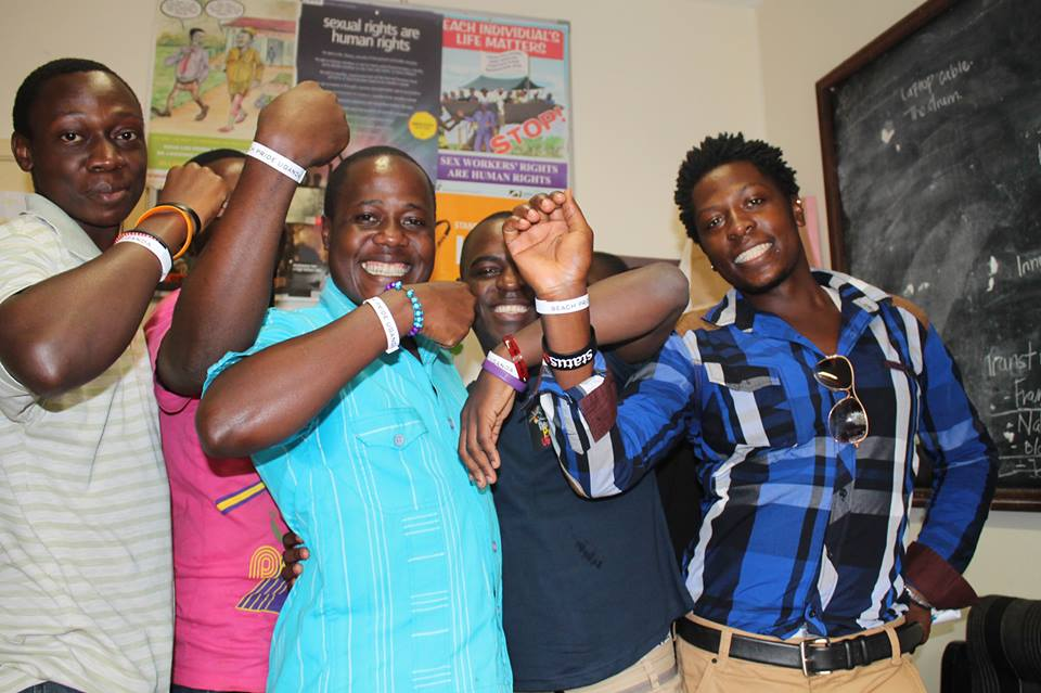Members of the Come Out Post Test Club celebrate as part of Uganda Pride 2013. (Photo courtesy of Facebook)