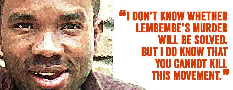 Image of murdered activist Eric Lembembe, with quote from HRW researcher Neela Ghoshal.