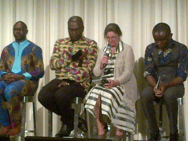 """Tribute to Eric Lembembe during July 31 showing of """"Born This Way"""" in New York City. The focus of the film is the human rights organization Alternatives-Cameroon, which was attacked by an arsonist -- an attack that Lembembe wrote about in his last article. (Photo courtesy of Twitter)"""