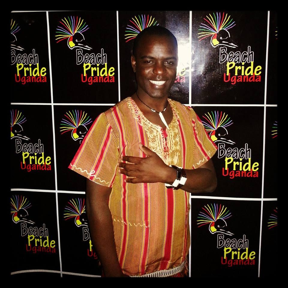 Frank Mugisha at Uganda Pride 2013's cultural gala. (Photo courtesy of Facebook)