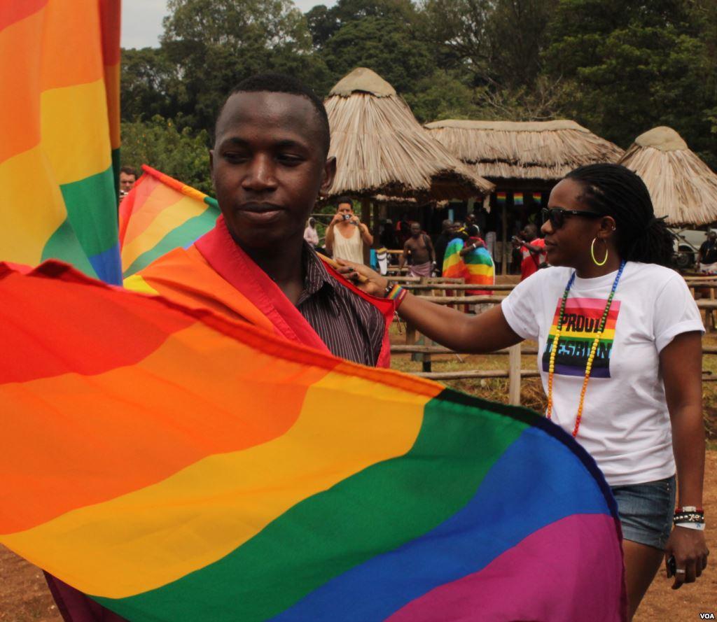 Scene from Uganda pride parade 2013. (Photo courtesy of VOA)