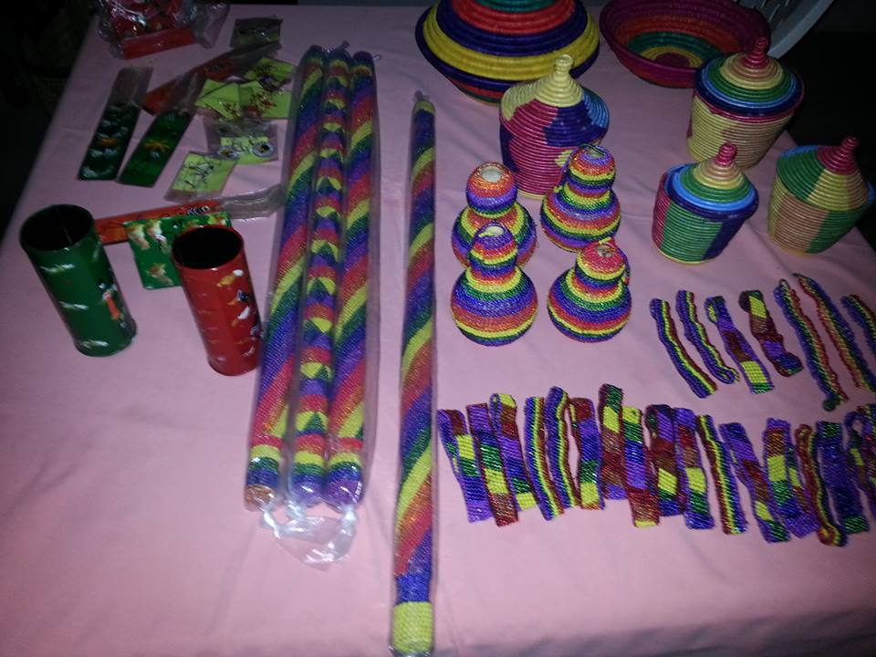 Merchandise on sale at Uganda Pride market on Day 3 of the celebrations. (Photo courtesy of Facebook)