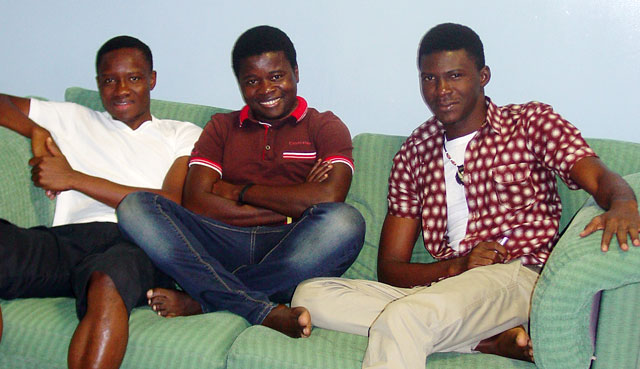 George Freeman, Denzil Kargbo and  Bernard Wilson now spend their days in Spain, hoping to be able to return some day to Sierra Leone. (Photo courtesy of Pride Equality)