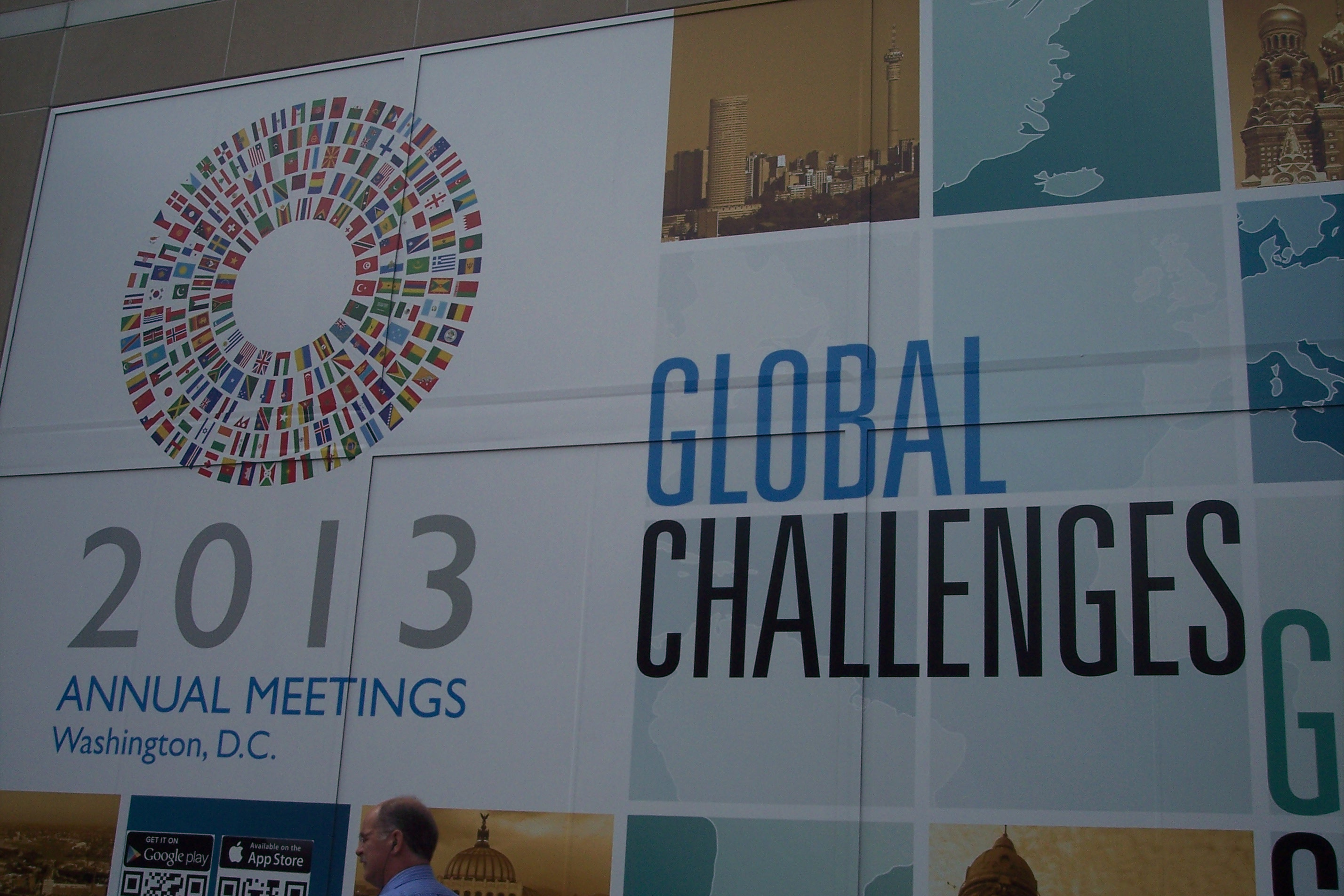 Display at the World Bank's annual meeting (Photo courtesy of the Rev. Canon Albert Ogle)
