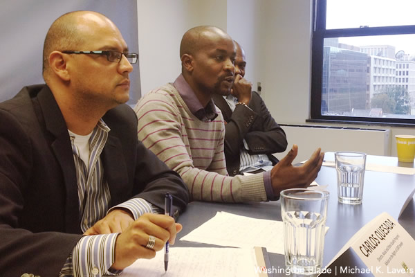 Eric Gitari of the National Gay and Lesbian Human Rights Commission of Kenya speaks in Washington, D.C. (Photo by Michael K. Lavers courtesy of the Washington Blade.)