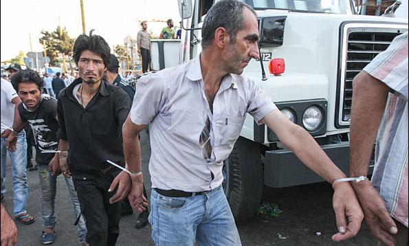 Oct. 9 arrests in Kermanshah, Iran (Photo courtesy of Mehr News Agency)