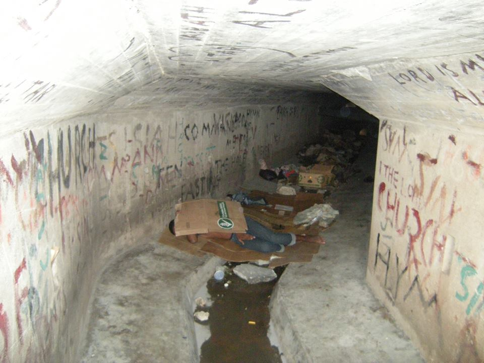 No place like home: LGBT youths forced to live in the sewers. (Photo courtesy of Michael Forbes)