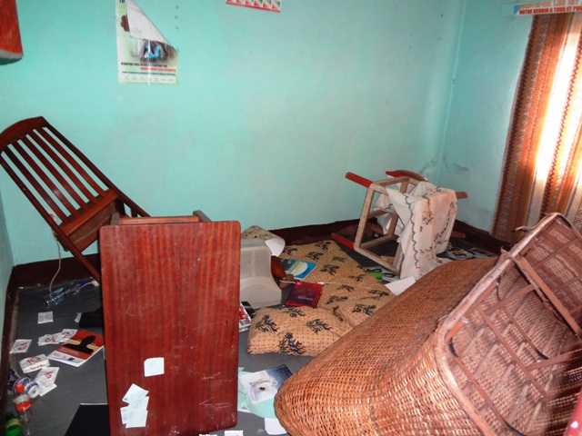 Office of CAMEF (Cameroon Association for Empowerment Outreach Programs) was vandalized Dec. 22
