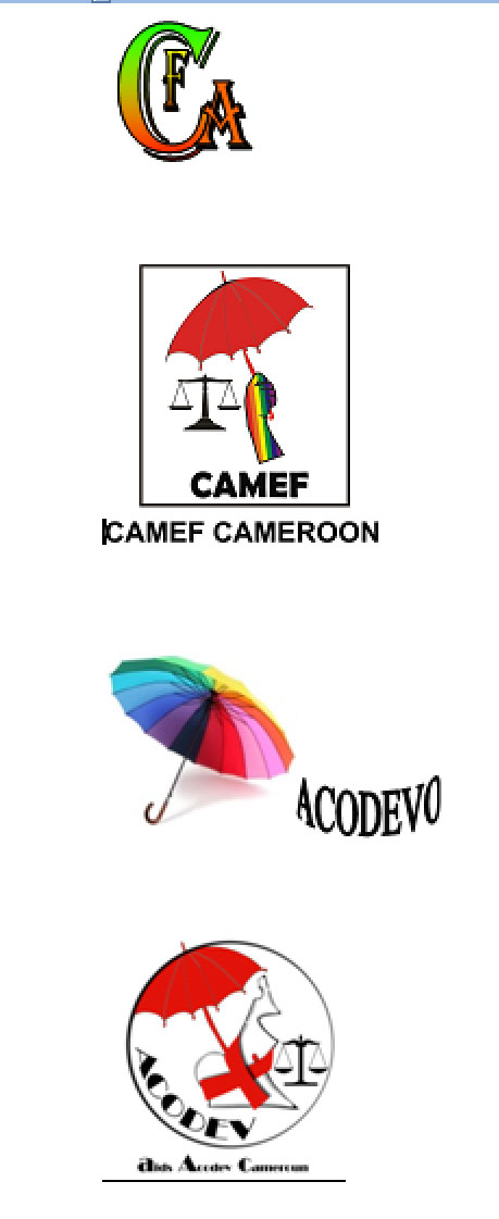 Logos of four organizations appealing to the Cameroon government