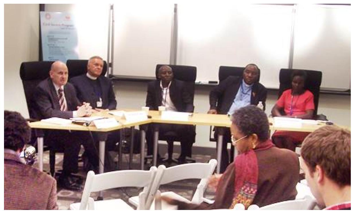 From left: Philip Moeller, Albert Ogle, Victor Mukasa, MacDonald Sembereka and Maxensia Nikibuuka at the World Bank LGBT panel.