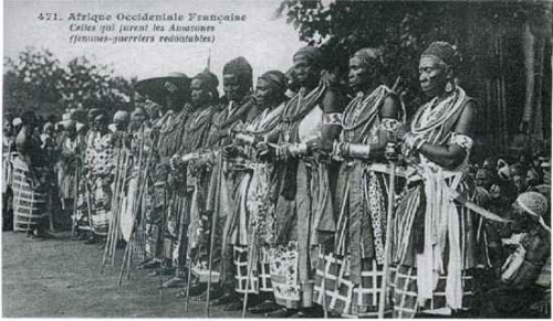 In the former Kingdom of Dahomey, women could be soldiers (above) and older women would sometimes marry younger women, according to anthropologist Melville Herkovits.