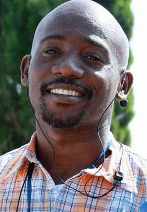 Caine Youngman, coordinator of Legabibo (Photo courtesy of the Botswana Gazette)