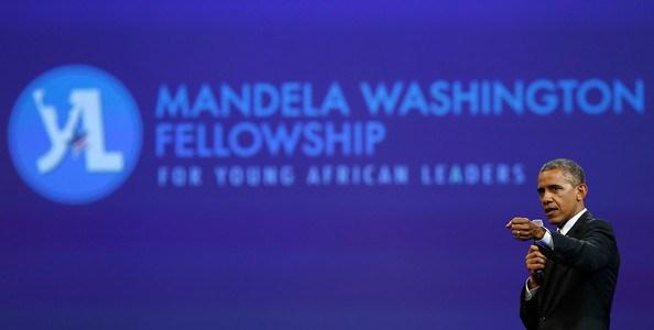 President Obama addresses Mandela Washington Fellowship gathering. (Photo courtesy of Facebook)