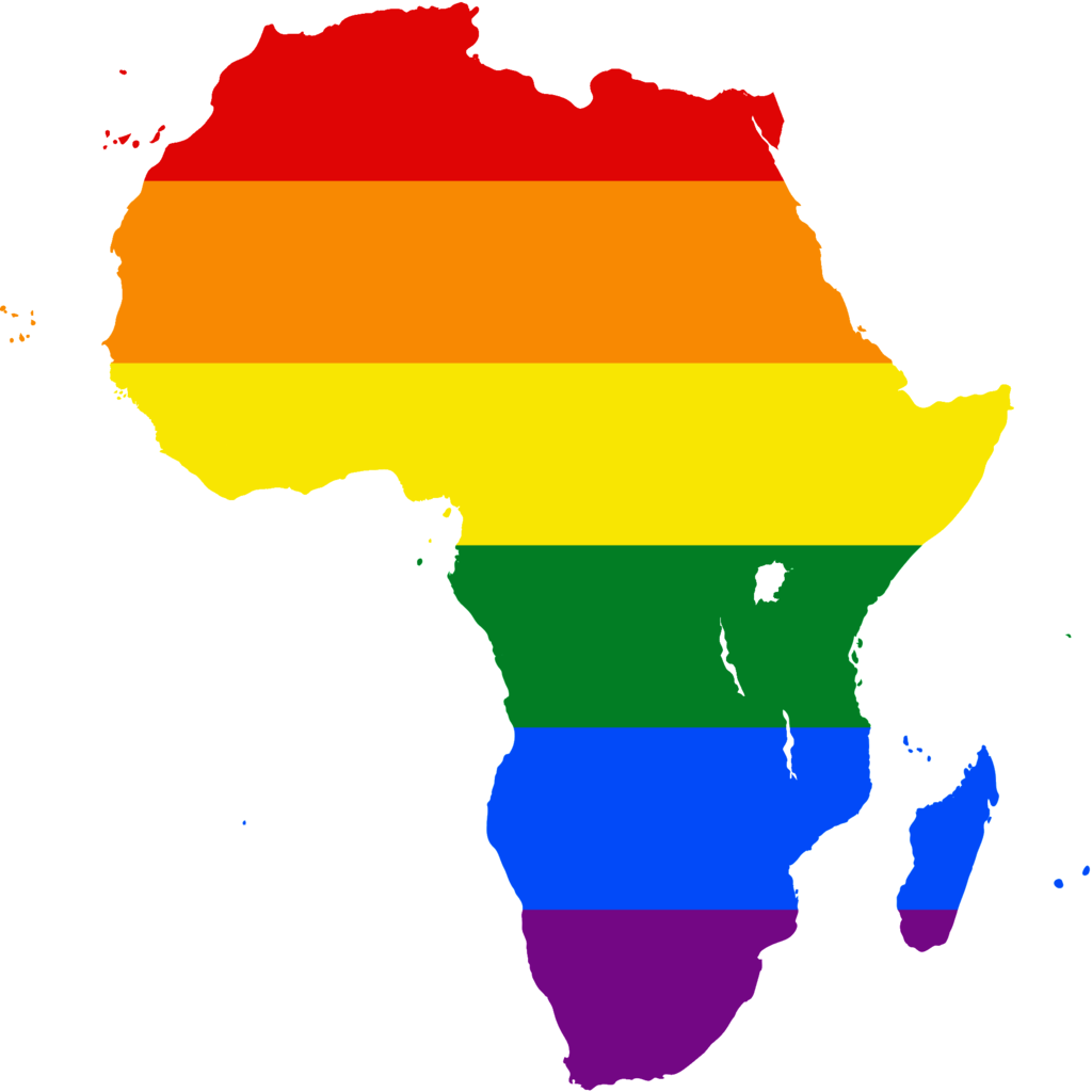 Rainbow-colored Africa (Image courtesy of WIkipedia)