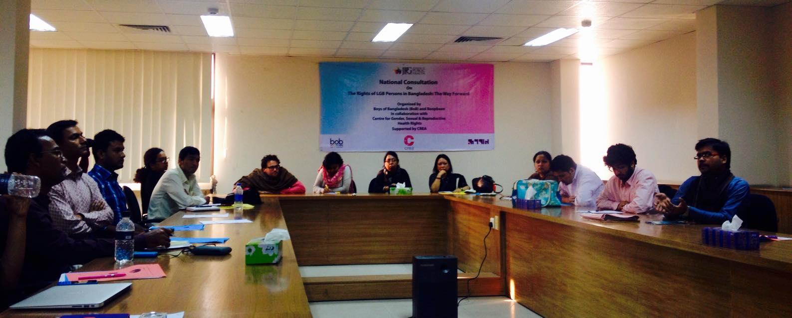 Dhaka, Bangladesh News conference announcing survey results (Photo courtesy BoB Facebook page)