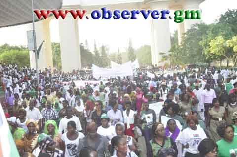 Anti-gay March in Banjul, Gambia (courtesy observer.gm)