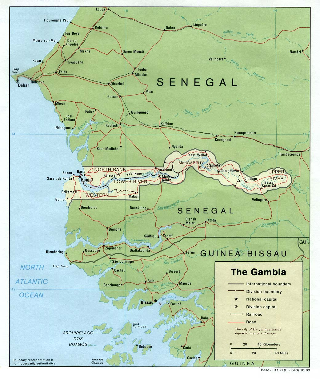 The Gambia (Map courtesy of Wikipedia)