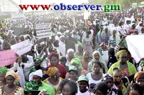 Protest in Banjul, Gambia December 10, 2014