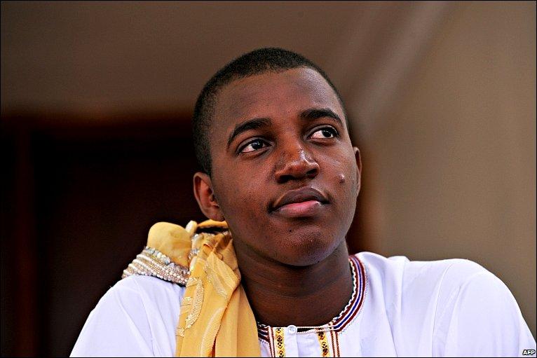 King Oyo Nyimba Kabamba Iguru Rukidi IV looks on after his crowning ceremony in Fort Portal