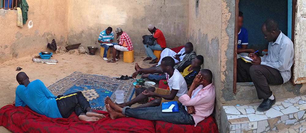 Staff with SOS Pairs Educateurs carry out an integrated bio behavioral study among members of Mauritania's gay community in the capital Nouakchott, on behalf of the national AIDS commission